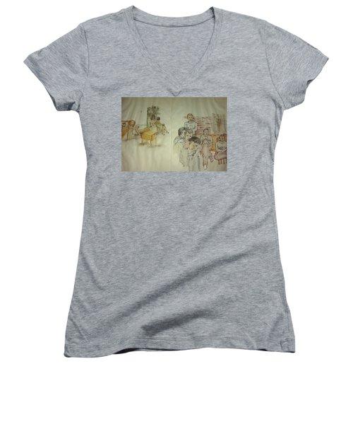 Another Look At Mental Illness Album Women's V-Neck T-Shirt (Junior Cut)