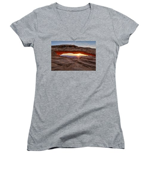 Another Sunrise At Mesa Arch Women's V-Neck