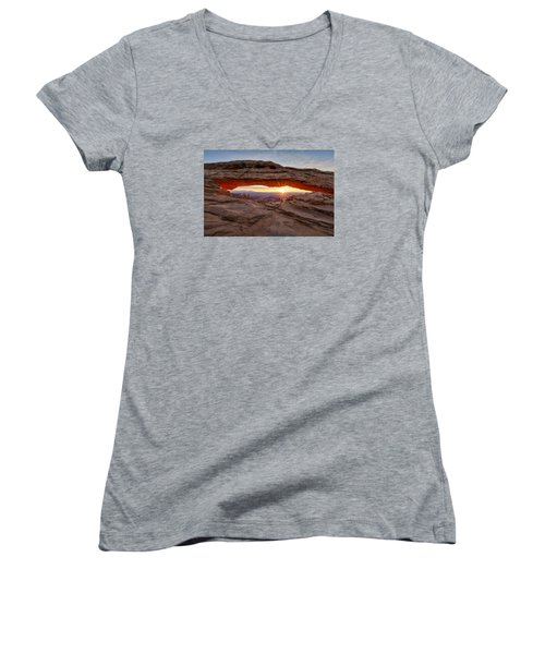 Another Sunrise At Mesa Arch Women's V-Neck (Athletic Fit)