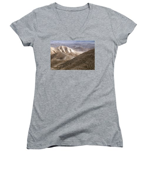 Another View From Masada Women's V-Neck