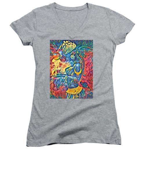 Answering The Call Women's V-Neck (Athletic Fit)