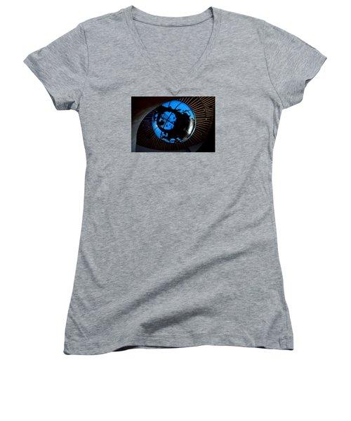 Antarctica Women's V-Neck T-Shirt (Junior Cut) by David Gilbert