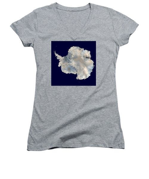 Antarctica From Blue Marble Women's V-Neck