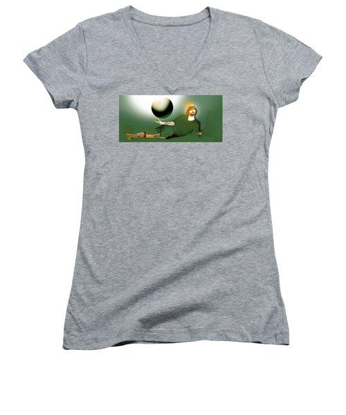 Anti Gravity Flight Women's V-Neck T-Shirt