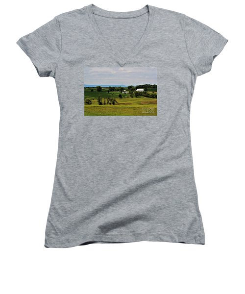 Antietam Battlefield And Mumma Farm Women's V-Neck (Athletic Fit)