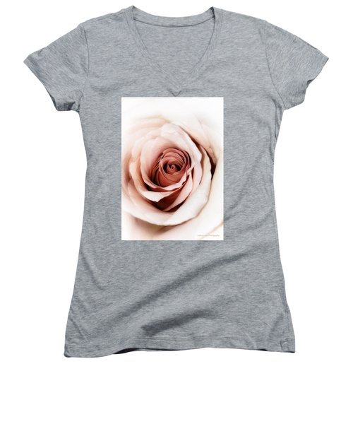 Antique Rose Women's V-Neck (Athletic Fit)