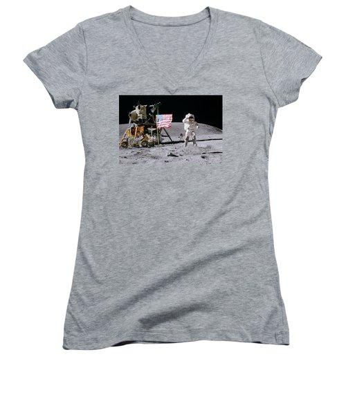 Apollo 16 Women's V-Neck (Athletic Fit)