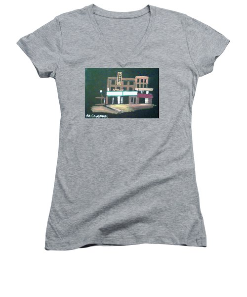 Apollo Theater New York City Women's V-Neck T-Shirt