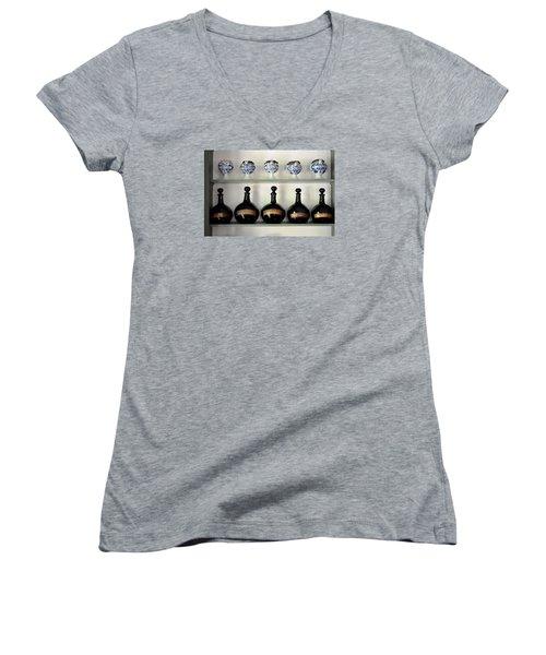 Apothecary Women's V-Neck T-Shirt (Junior Cut) by Richard Ortolano