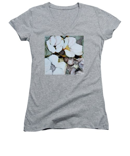 Apple Blossoms Women's V-Neck T-Shirt