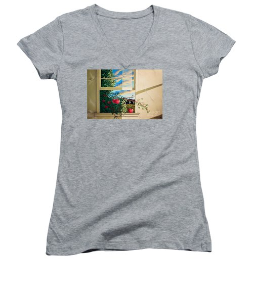 Apple Tree Overflowing Women's V-Neck