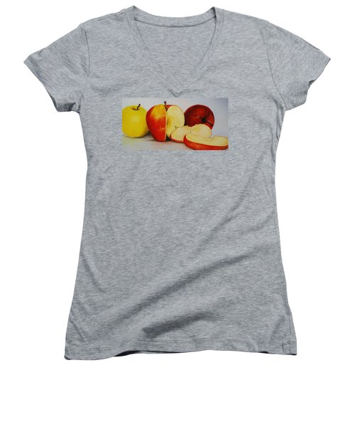Apples Women's V-Neck