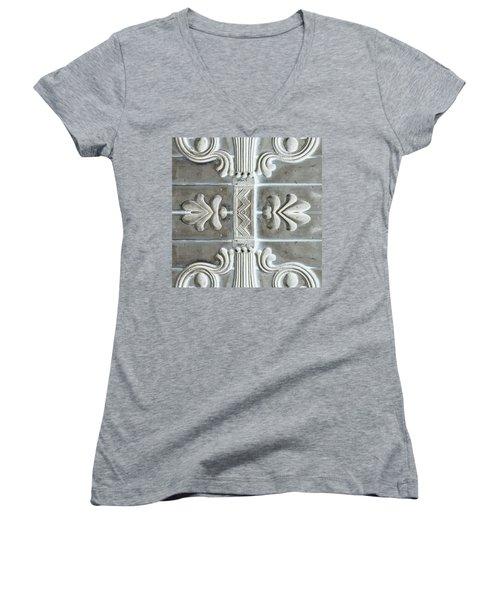 Applique No. 2 Women's V-Neck T-Shirt