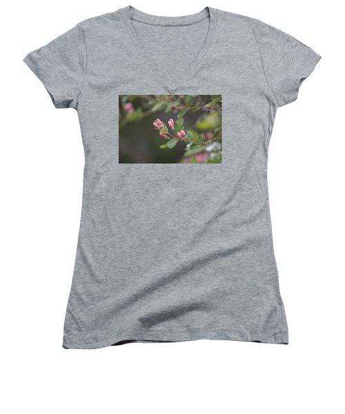 April Showers 3 Women's V-Neck T-Shirt (Junior Cut) by Antonio Romero