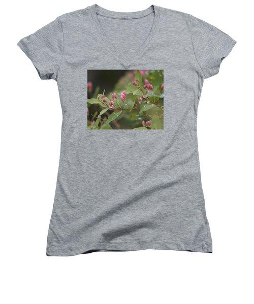 April Showers 4 Women's V-Neck T-Shirt (Junior Cut) by Antonio Romero