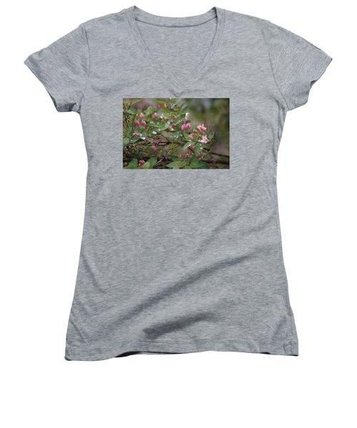 April Showers 6 Women's V-Neck T-Shirt (Junior Cut) by Antonio Romero