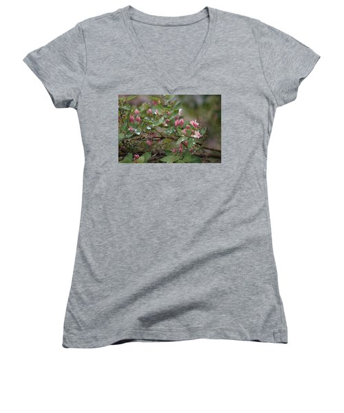 Women's V-Neck featuring the photograph April Showers 6 by Antonio Romero
