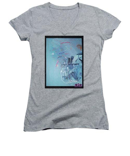 Aqua Resort Women's V-Neck T-Shirt
