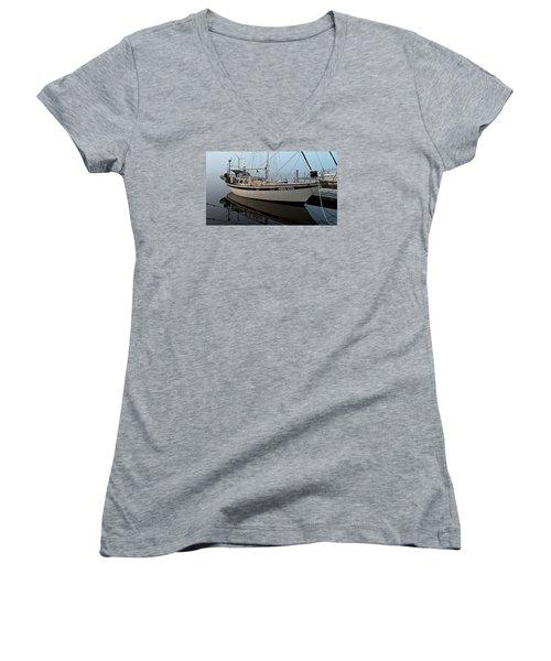Aqua - Vita Women's V-Neck T-Shirt (Junior Cut) by Laura Ragland
