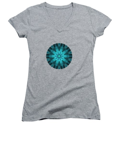 Women's V-Neck featuring the painting Aquamarine  by Valerie Anne Kelly