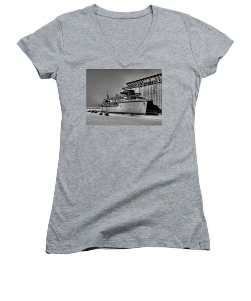 Aquarama Women's V-Neck T-Shirt (Junior Cut) by Ely Arsha