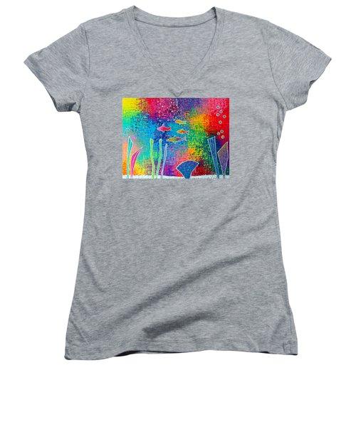 Aquarium Women's V-Neck T-Shirt