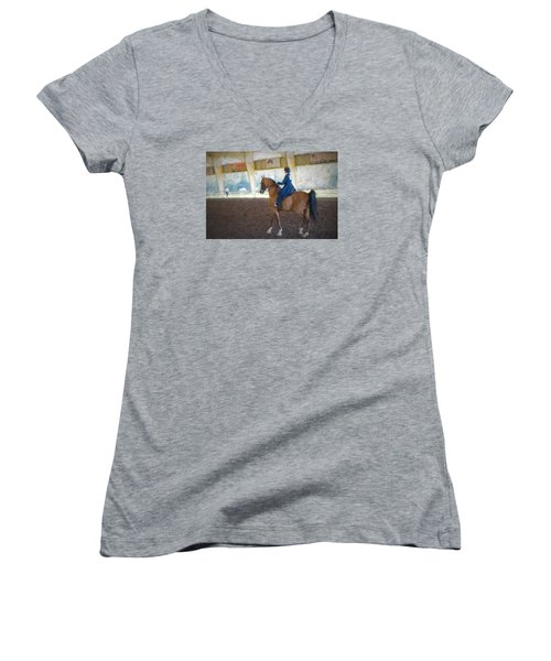 Arabian Dressage Women's V-Neck T-Shirt