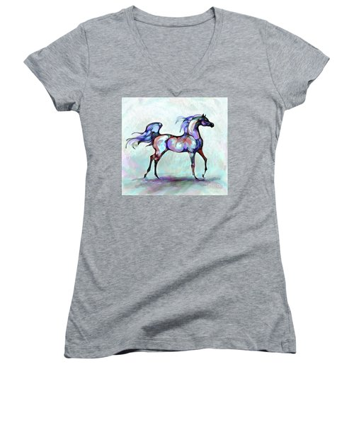 Arabian Horse Overlook Women's V-Neck (Athletic Fit)