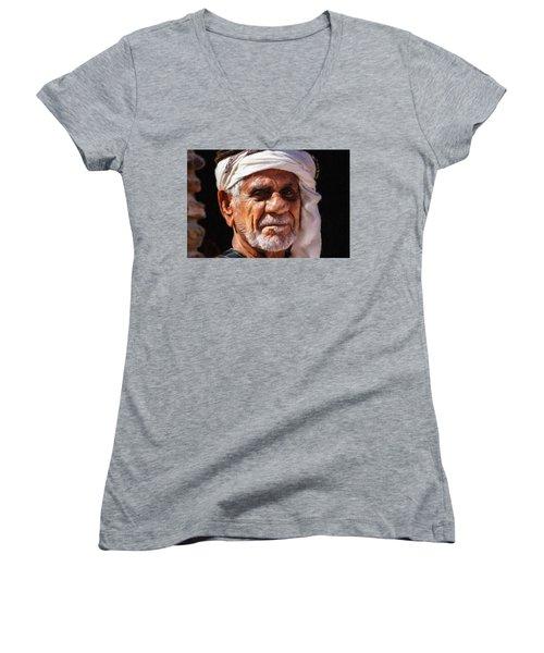 Arabian Old Man Women's V-Neck
