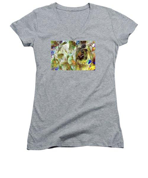 Arbitrary Color Opticality Women's V-Neck T-Shirt