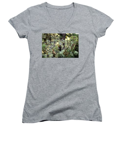 Arboreal Lichens Women's V-Neck (Athletic Fit)