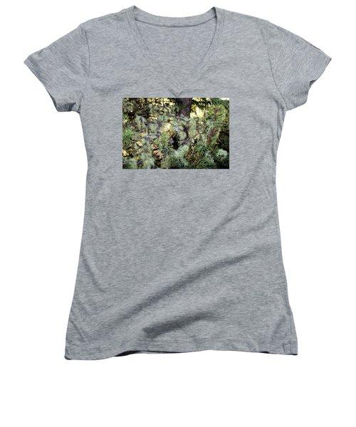 Arboreal Lichens Women's V-Neck T-Shirt