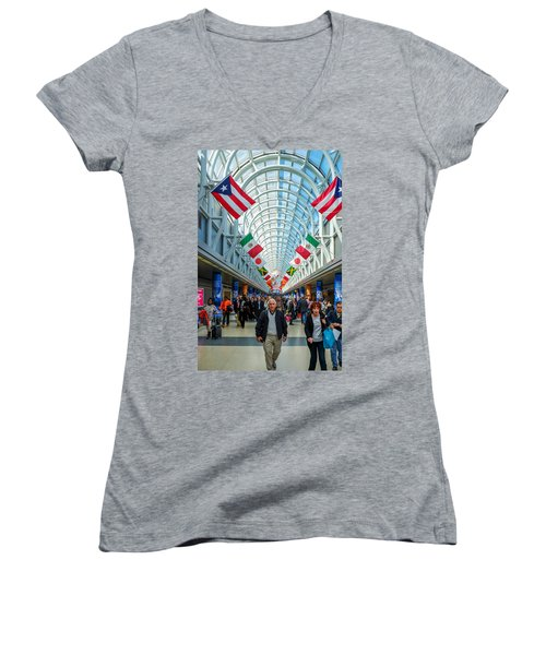 Arcade Of Flags Women's V-Neck (Athletic Fit)