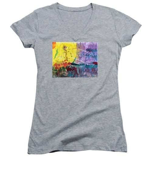 Architect Women's V-Neck T-Shirt (Junior Cut) by Phil Strang