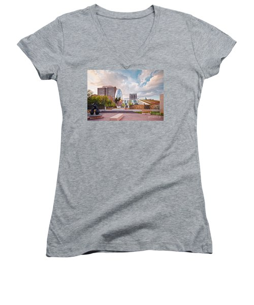 Architectural Photograph Of Anish Kapoor Cloud Column At The Glassell School Of Art - Mfa Houston  Women's V-Neck