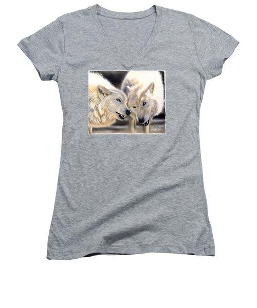 Arctic Pair Women's V-Neck T-Shirt