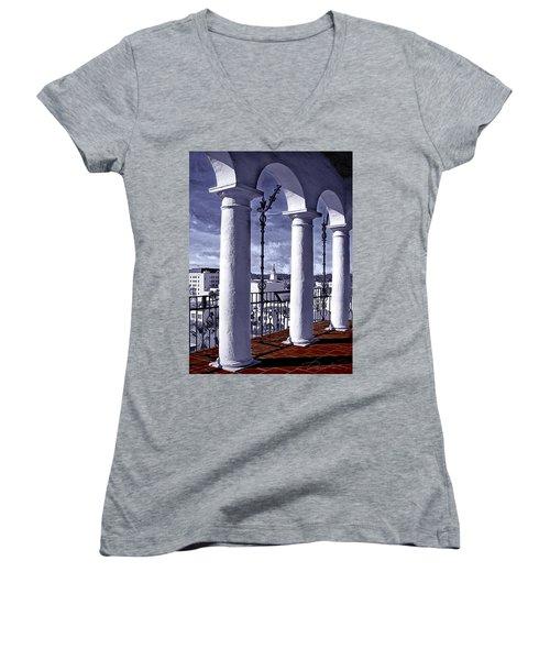 Arlinghton View Women's V-Neck T-Shirt (Junior Cut) by Danuta Bennett