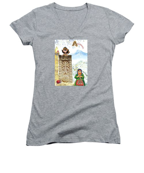 Armenia Women's V-Neck T-Shirt