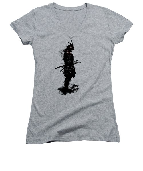 Armored Samurai Women's V-Neck (Athletic Fit)