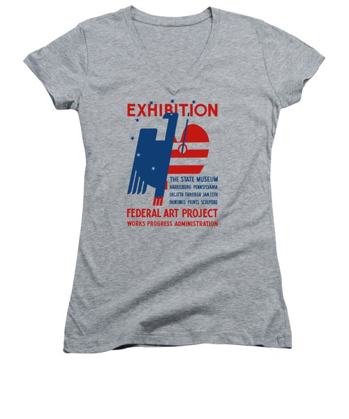 Art Exhibition The State Museum Harrisburg Pennsylvania Women's V-Neck (Athletic Fit)