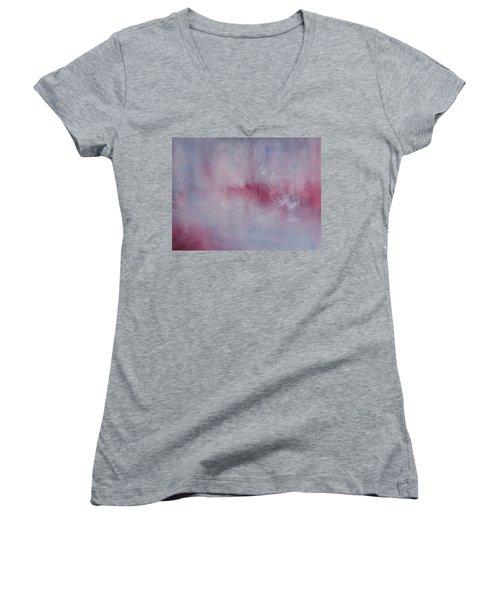 Art Is Not The Truth Women's V-Neck T-Shirt (Junior Cut) by Min Zou