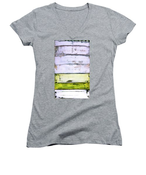 Art Print Abstract 11 Women's V-Neck (Athletic Fit)
