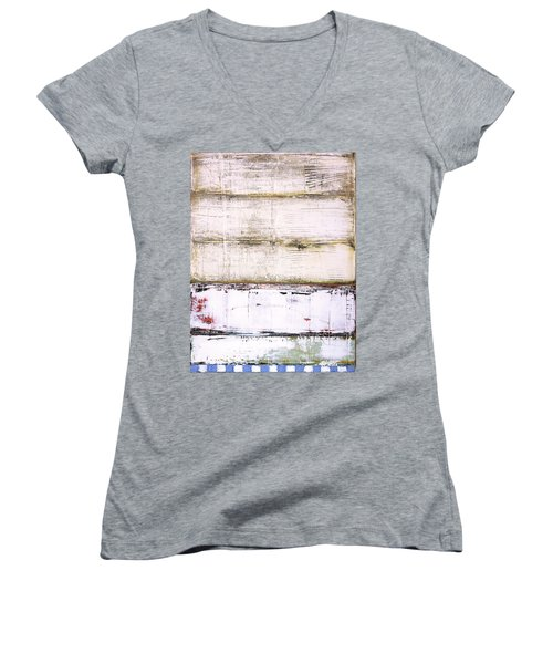 Art Print Abstract 25 Women's V-Neck (Athletic Fit)
