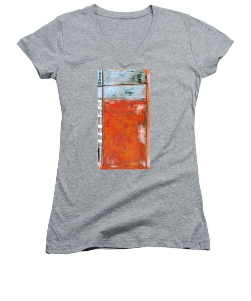 Art Print Abstract 8 Women's V-Neck (Athletic Fit)