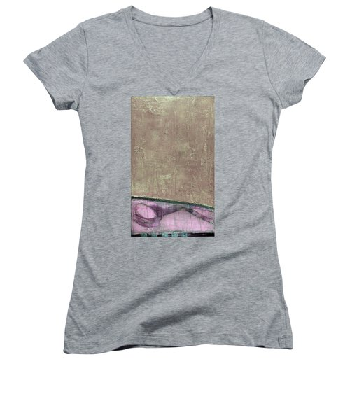 Art Print Abstract 94 Women's V-Neck (Athletic Fit)