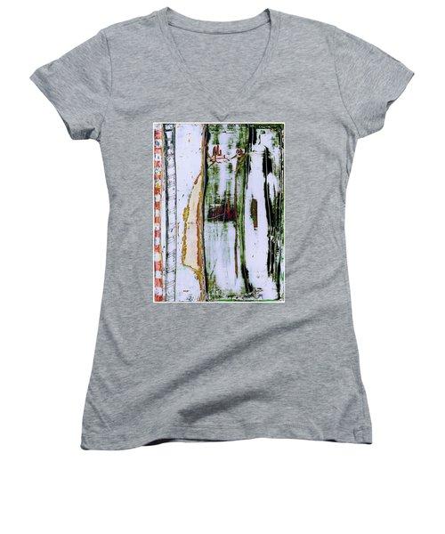 Art Print Forest Women's V-Neck (Athletic Fit)