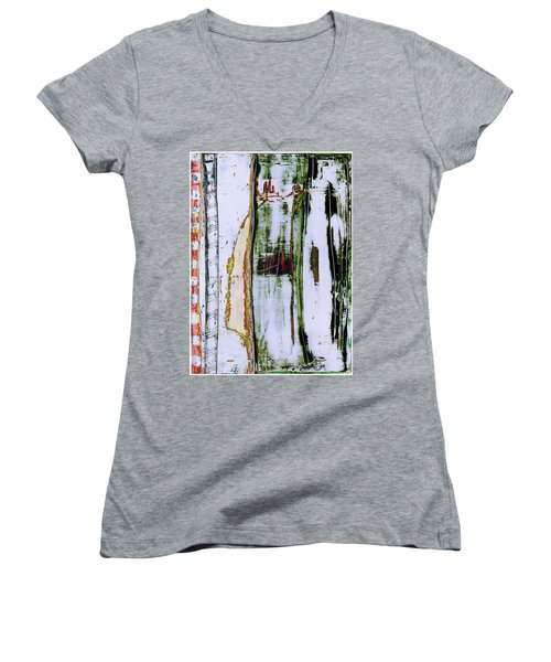 Art Print Forest Women's V-Neck (Athletic Fit)