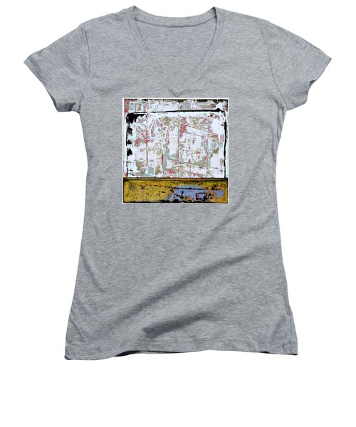Art Print Square 9 Women's V-Neck (Athletic Fit)