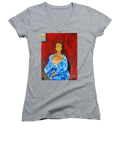Art Study Women's V-Neck (Athletic Fit)