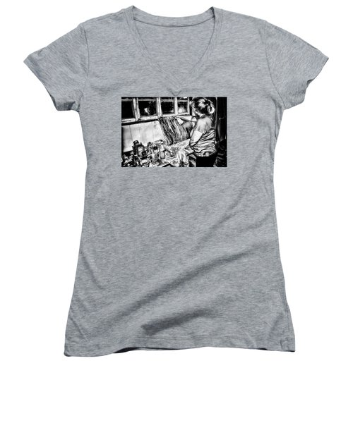 Artist At Work Women's V-Neck T-Shirt